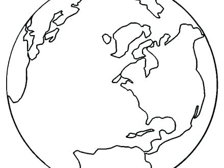 440x330 Globe Coloring Pages Drawn Earth Coloring Page Pencil And In Color