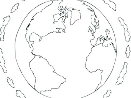 440x330 Globe Coloring Pages Globe Coloring Page Printable World Globe