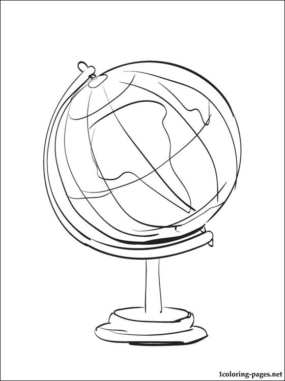 560x750 Globe Coloring Page Coloring Pages