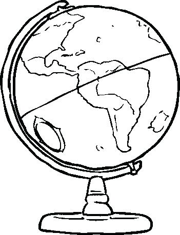 351x459 Globe Coloring Pages Globe Coloring Pages Globe Coloring Page