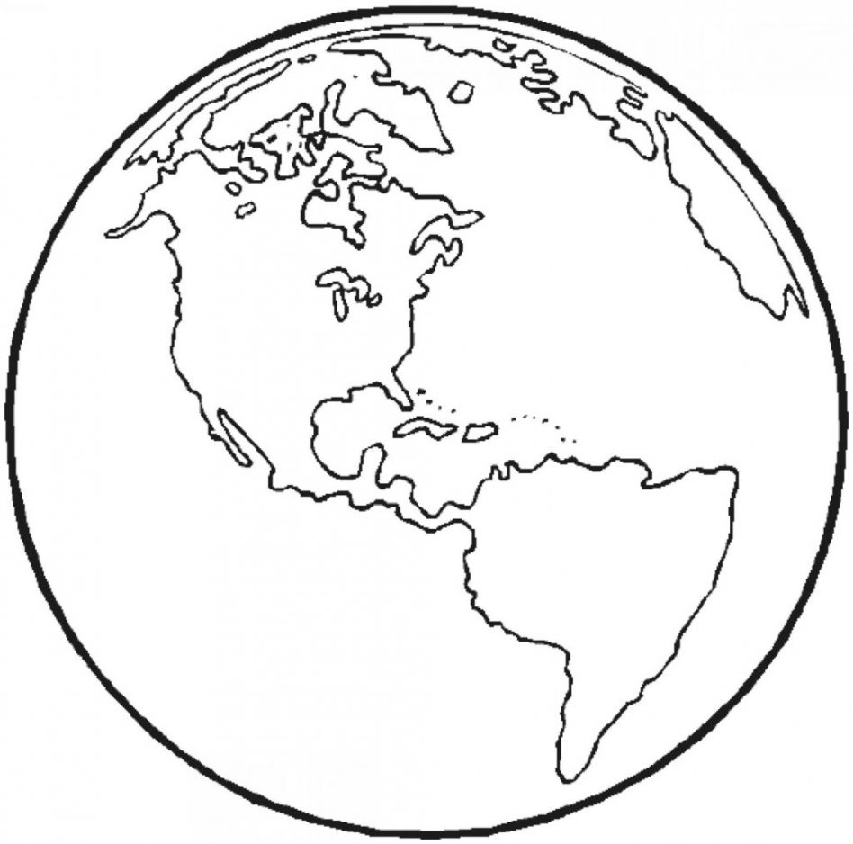 948x938 Revisited Globe Coloring Page Clip Art Breadedcat Free Printable