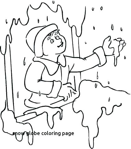 422x480 Snow Globe Coloring Pages Best Snow Globes Images On Coloring