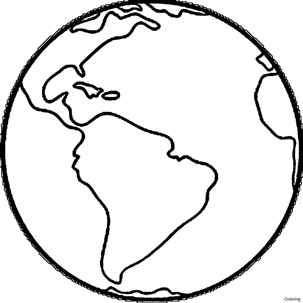 1203x1203 Wonderful Globe Coloring Page Snow Drawing For Home
