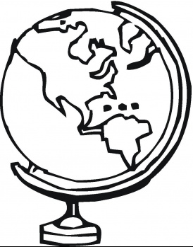 274x349 Globe Coloring Pages