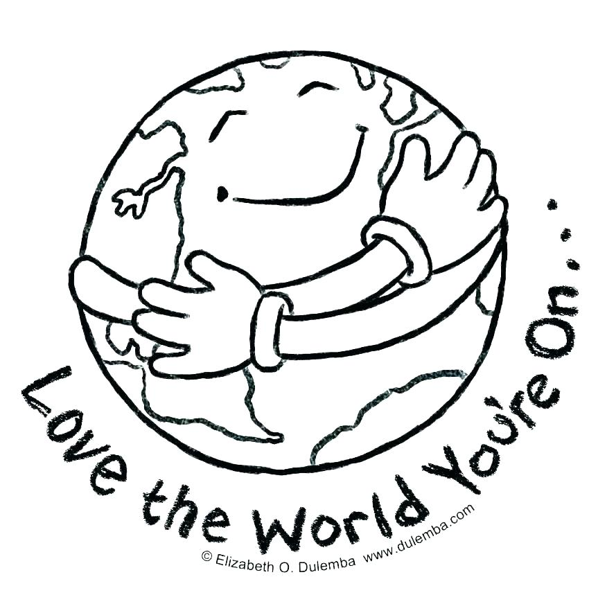 863x859 Globe Coloring Pages