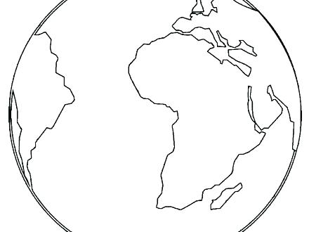 440x330 World Globe Coloring Page