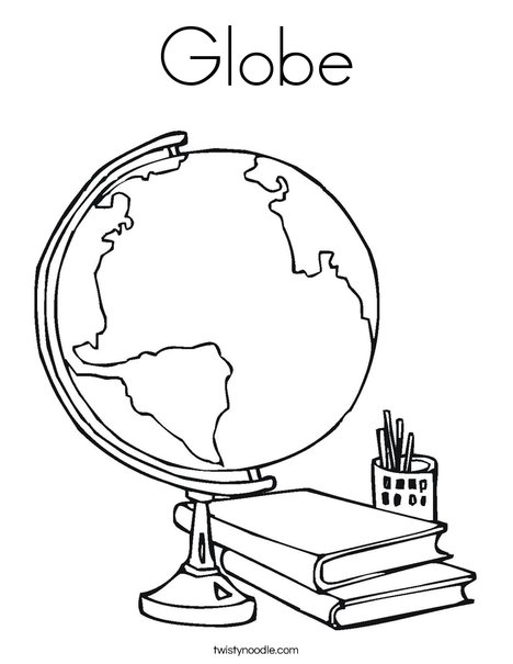 468x605 Globe Coloring Page