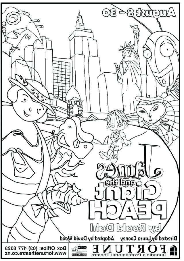 640x909 James And The Giant Peach Coloring Pages And The Giant Peach