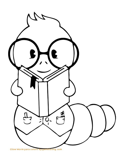 500x647 Book Worm Coloring Pages Awesome Glow Worm Para Colorir