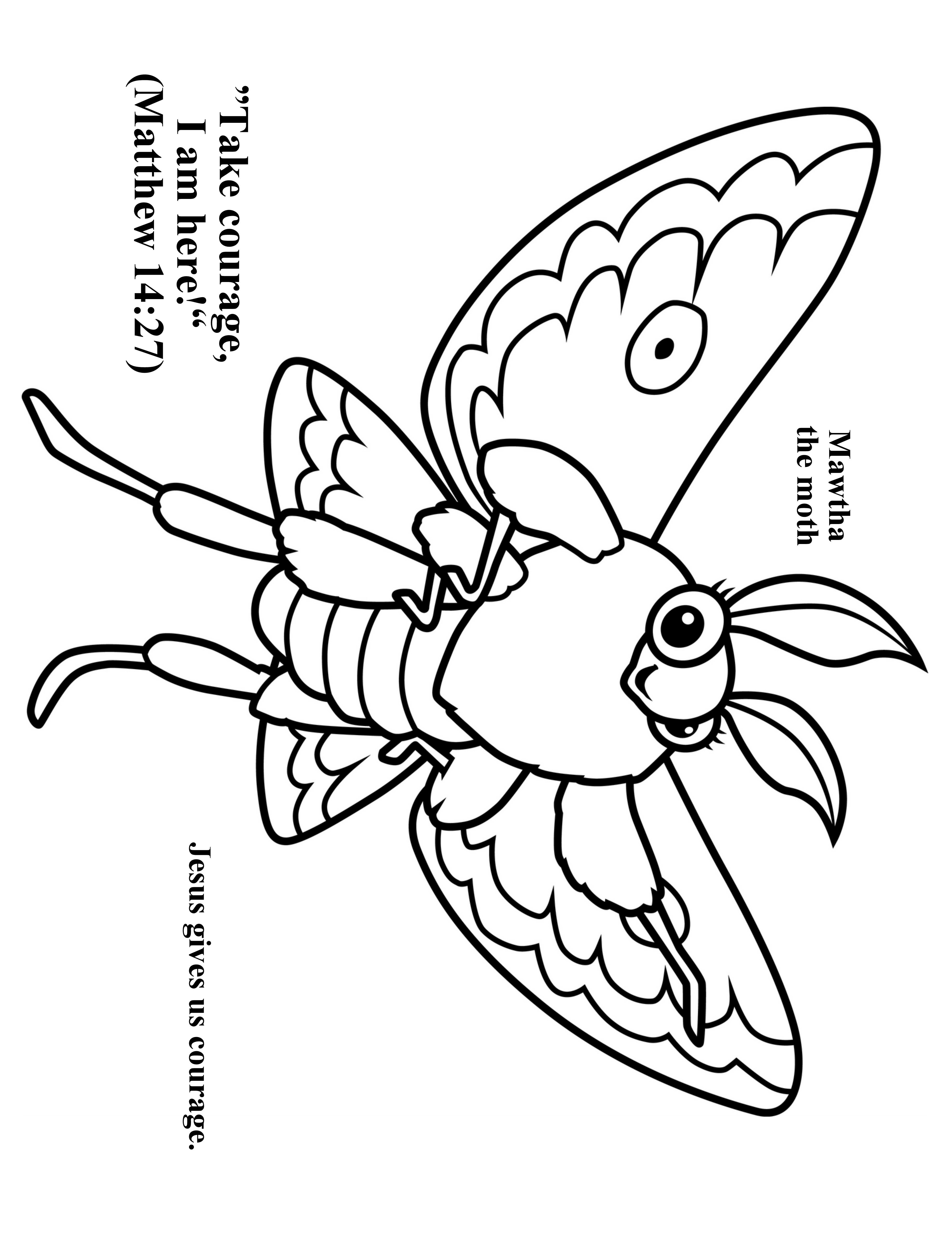 3952x5120 Cave Quest Day Preschool Coloring Page Mawtha The Moth Cave