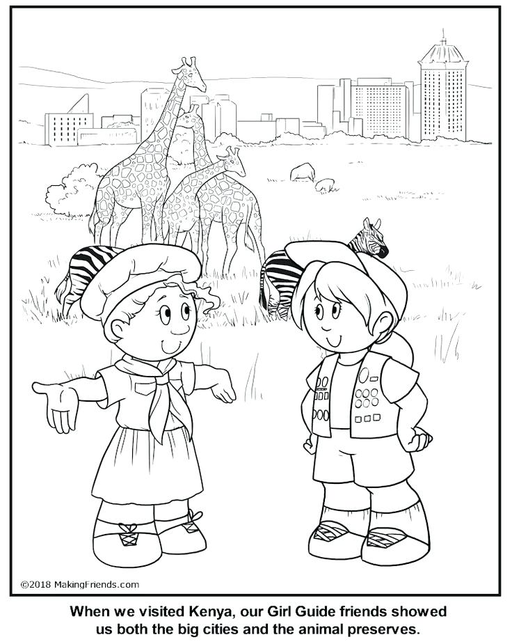 736x925 Girl Scout Law Coloring Pages Brownies Girl Scout Brownie Pin Girl
