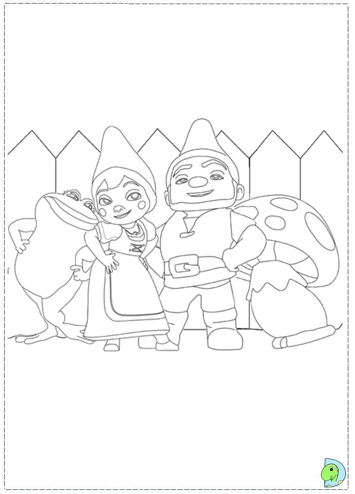 691x960 Gnomeo And Juliet Coloring Page