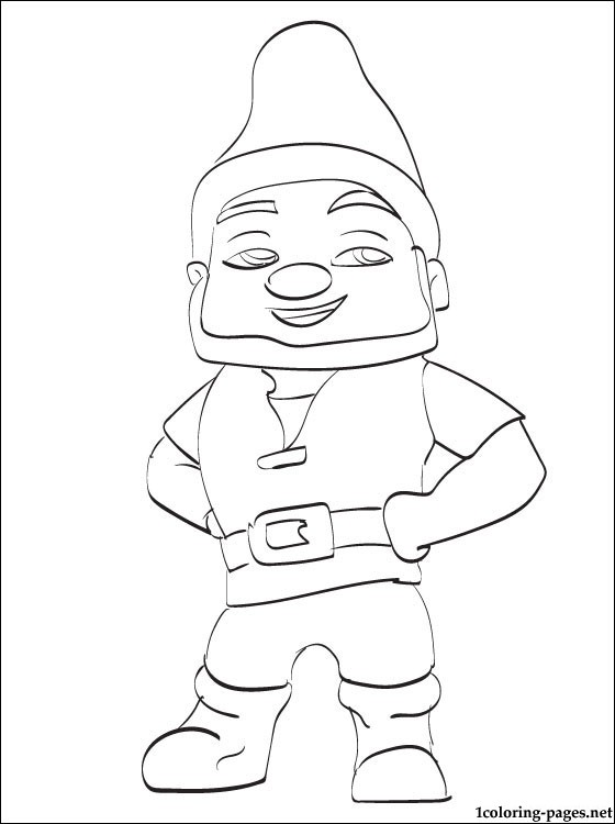 560x750 Gnomeo Friend Of Juliet Coloring Page Coloring Pages