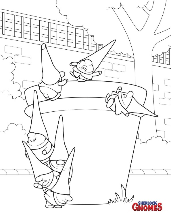 595x752 Kids N Coloring Pages Of Sherlock Gnomes