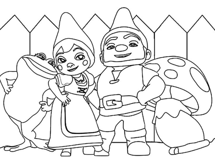 900x675 Coloring Pages Gnomeo Juliet, Printable For Kids Adults, Free