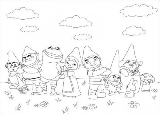 520x371 Free Gnomeo And Juliet Coloring Pages
