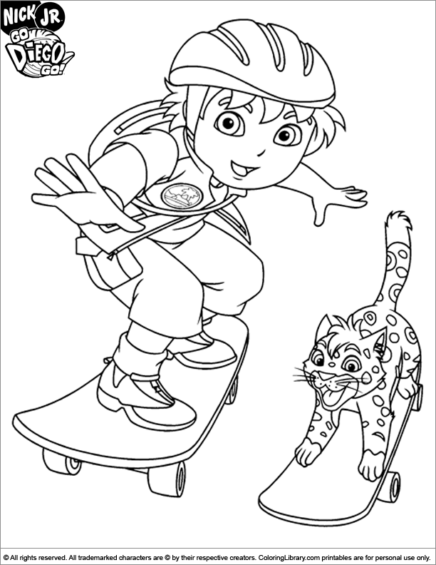 612x792 Go Diego Go Coloring Page Color Pages And More For Kids
