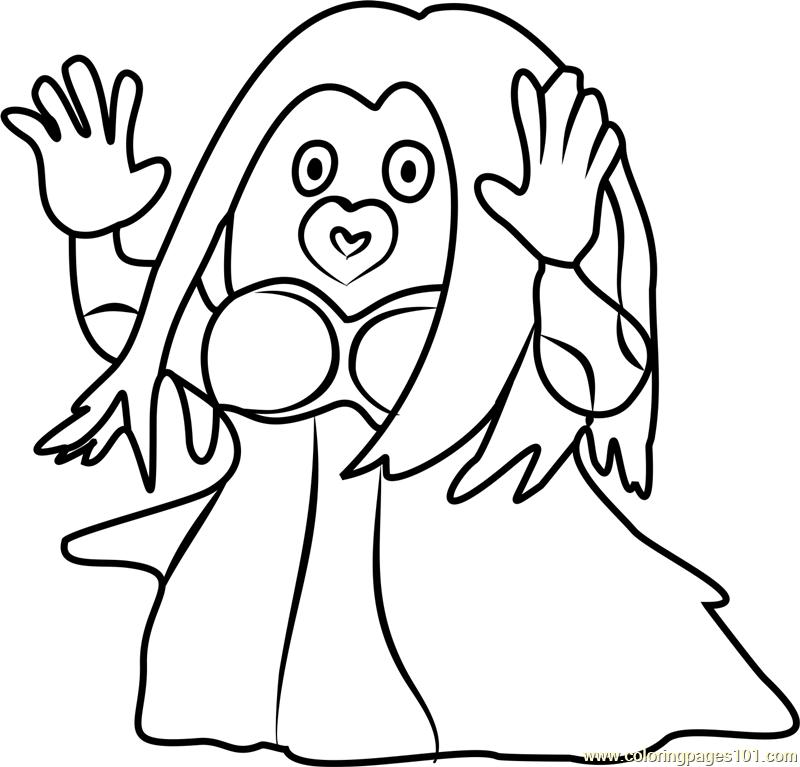 800x767 Jynx Pokemon Go Coloring Page