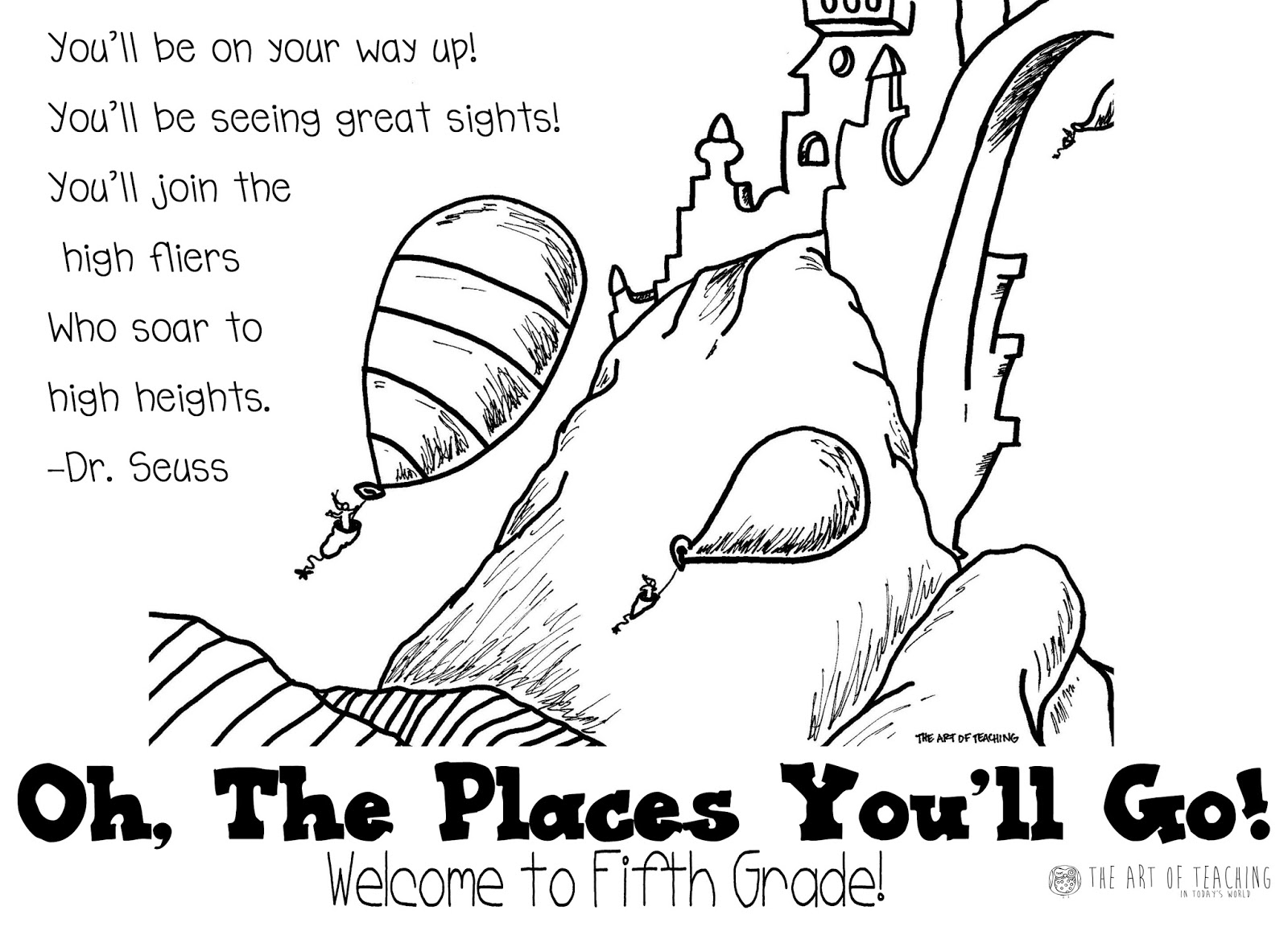 1600x1162 Oh The Places You Ll Go Worksheets In Dr Seuss Coloring Pages
