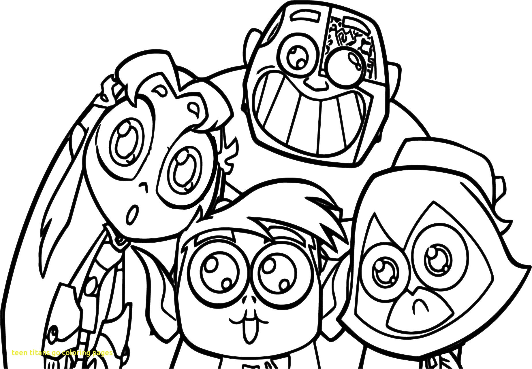 1845x1282 Teen Titans Go Coloring Page