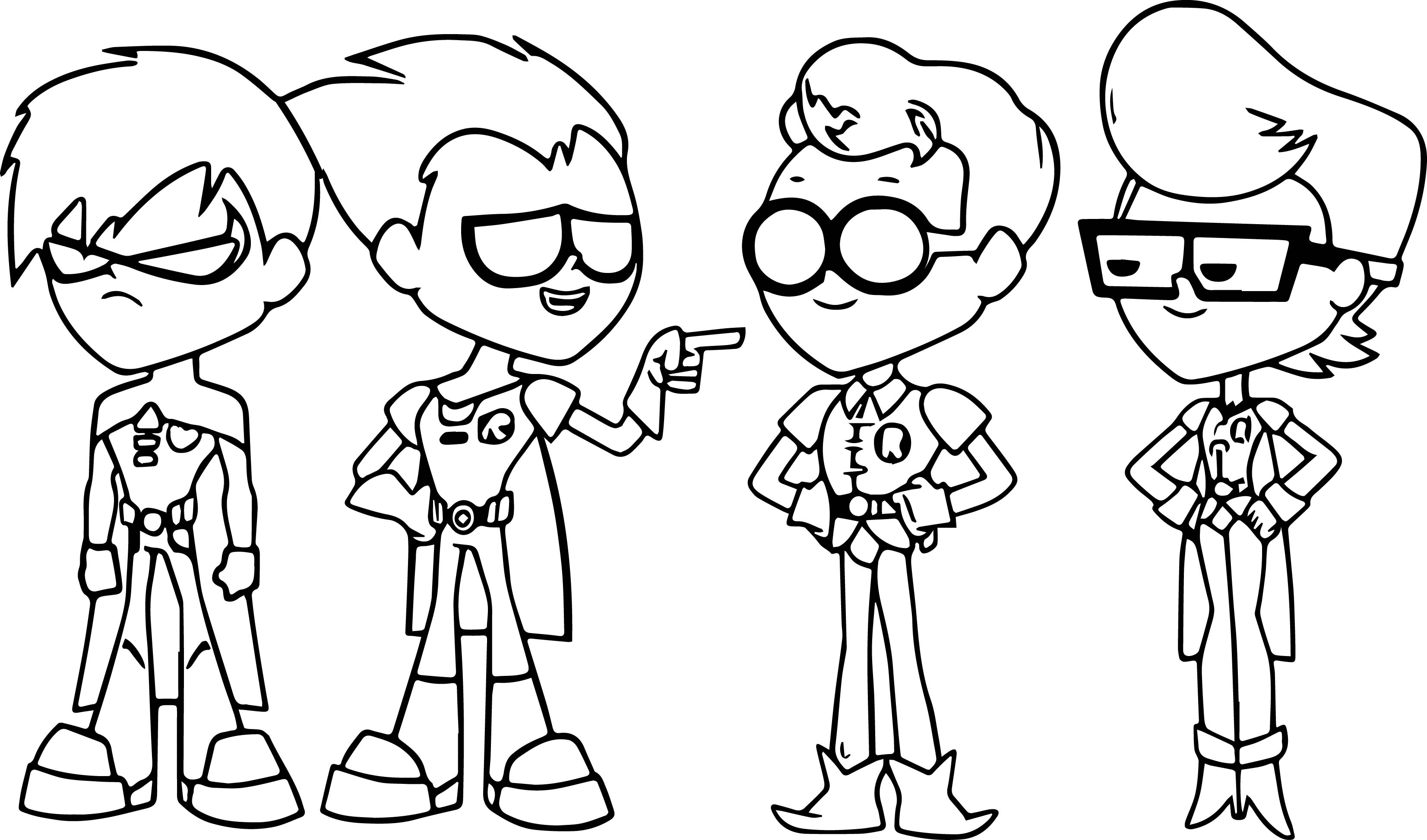 3305x1945 Teen Titans Go Coloring Pages How To Draw Throughout Page