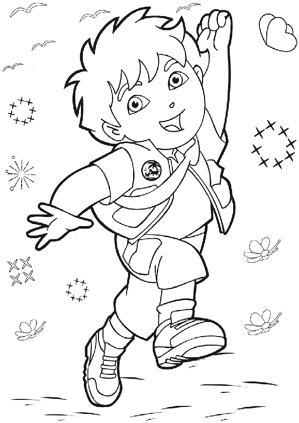 595x842 Dora Coloring Pages