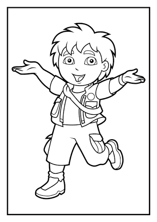 322x456 Go Diego Go Coloring Pages To Print