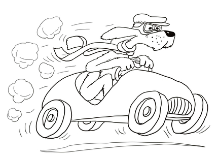 430x313 Go, Dog Go! Coloring Page Coloring Pages Dog