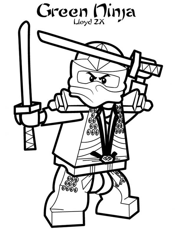 600x776 Lego Ninja Go Lloyd The Green Zx Coloring Pages Batch Coloring