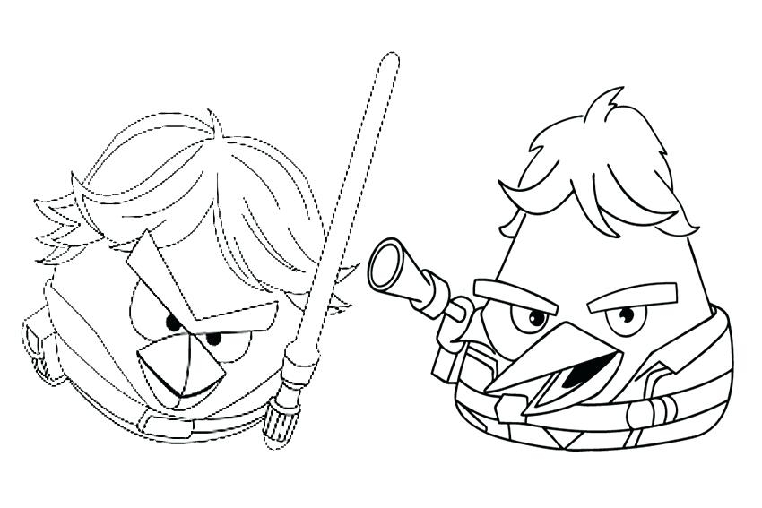 850x567 Angry Birds Go Karts Coloring Pages