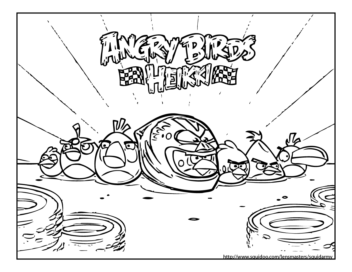 1200x927 Angry Birds Go Karts Coloring Pages Bgcentrum