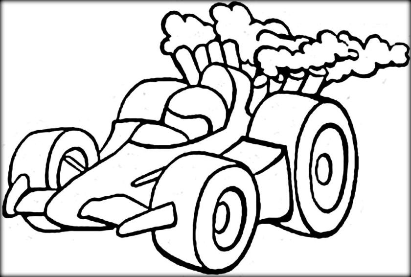 840x566 Go Kart Coloring Pages