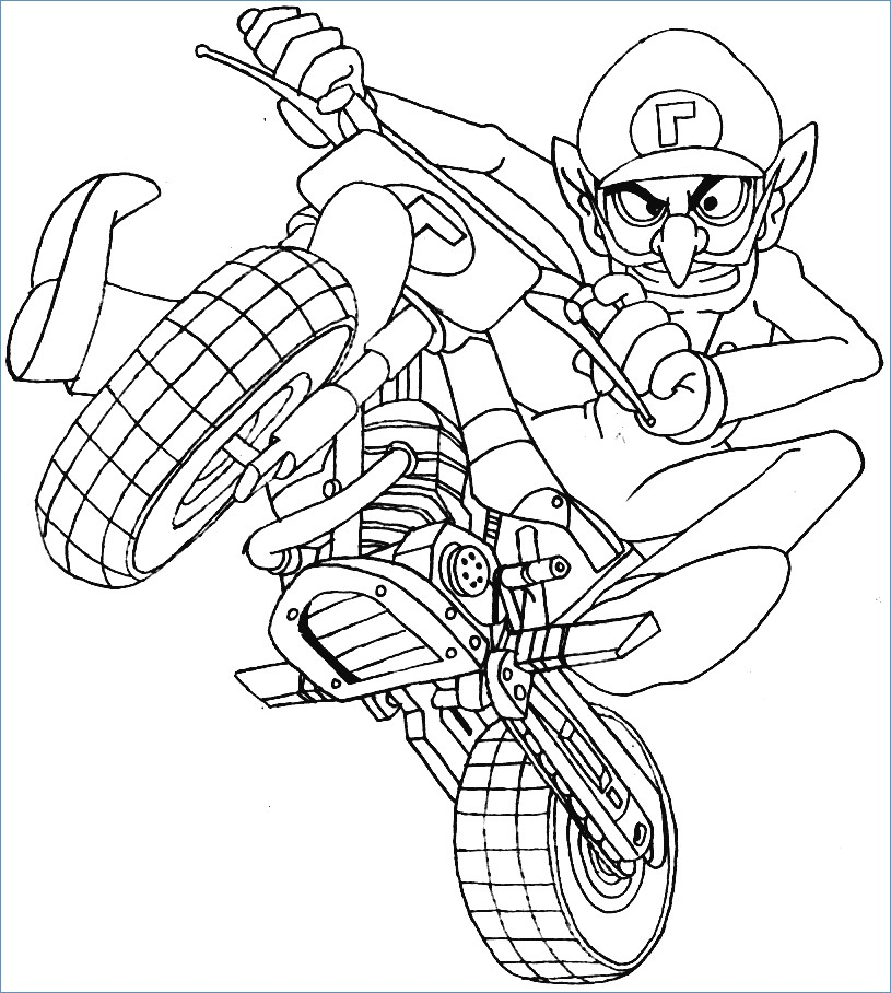 815x908 Mario Kart Racing Coloring Pages