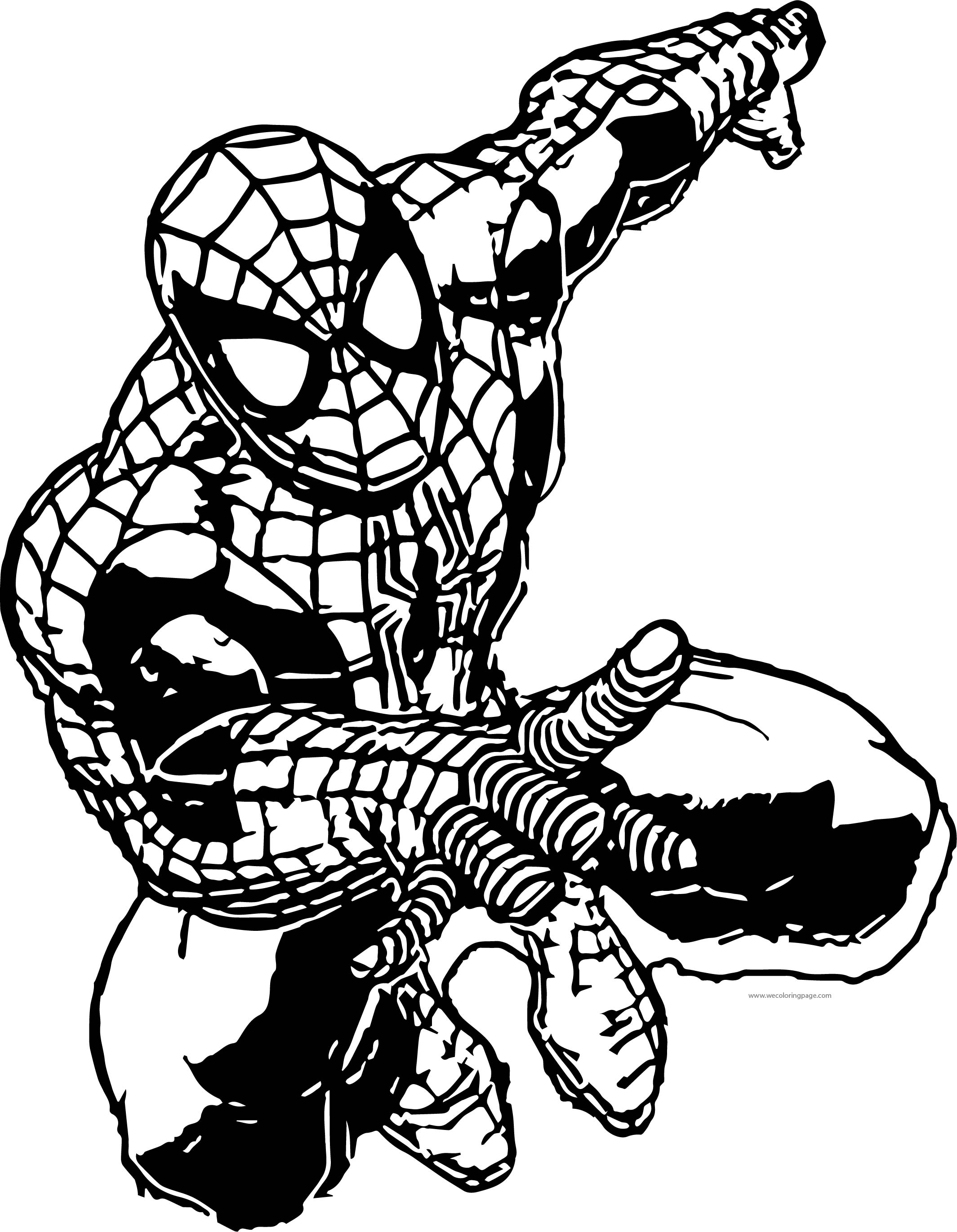 2129x2741 Spider Man Go Coloring Page Wecoloringpage