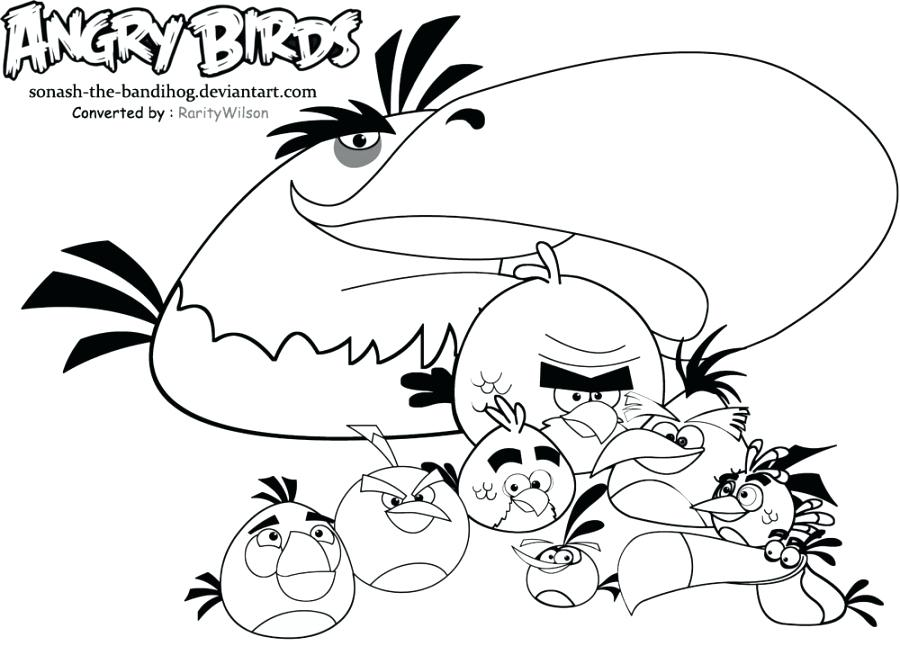 900x646 Yellow Angry Bird Coloring Page Angry Birds Movie Coloring Pages