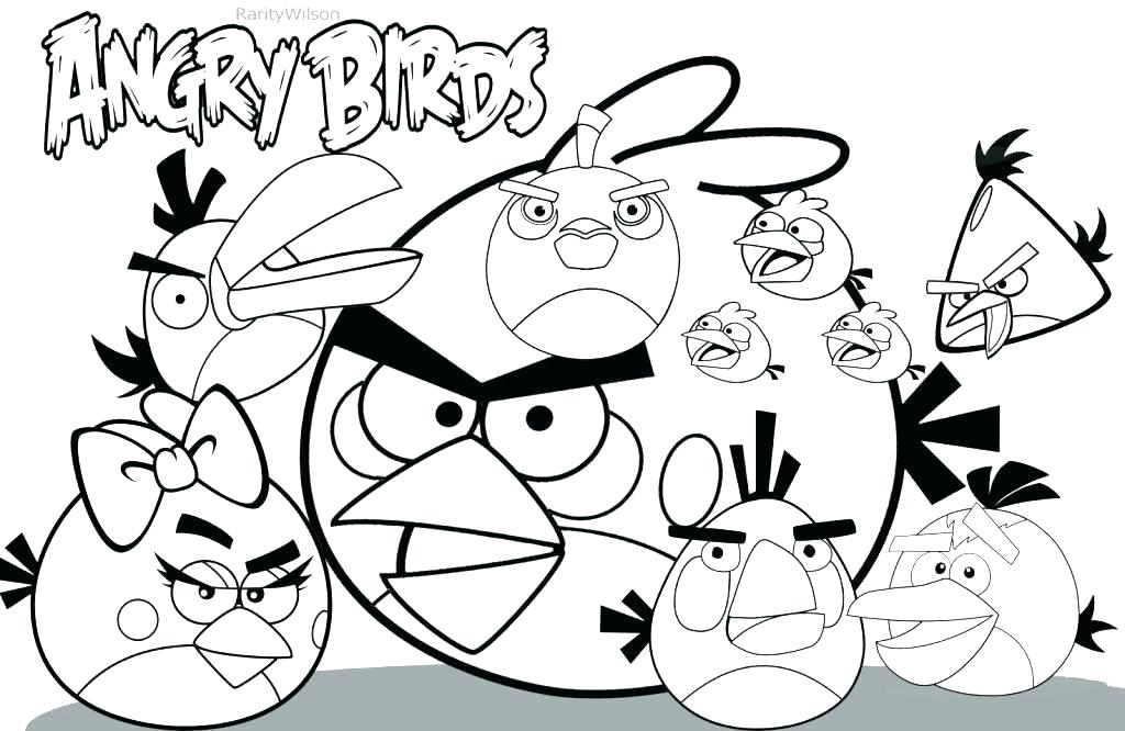 1024x666 Angry Bird Go Coloring Pages