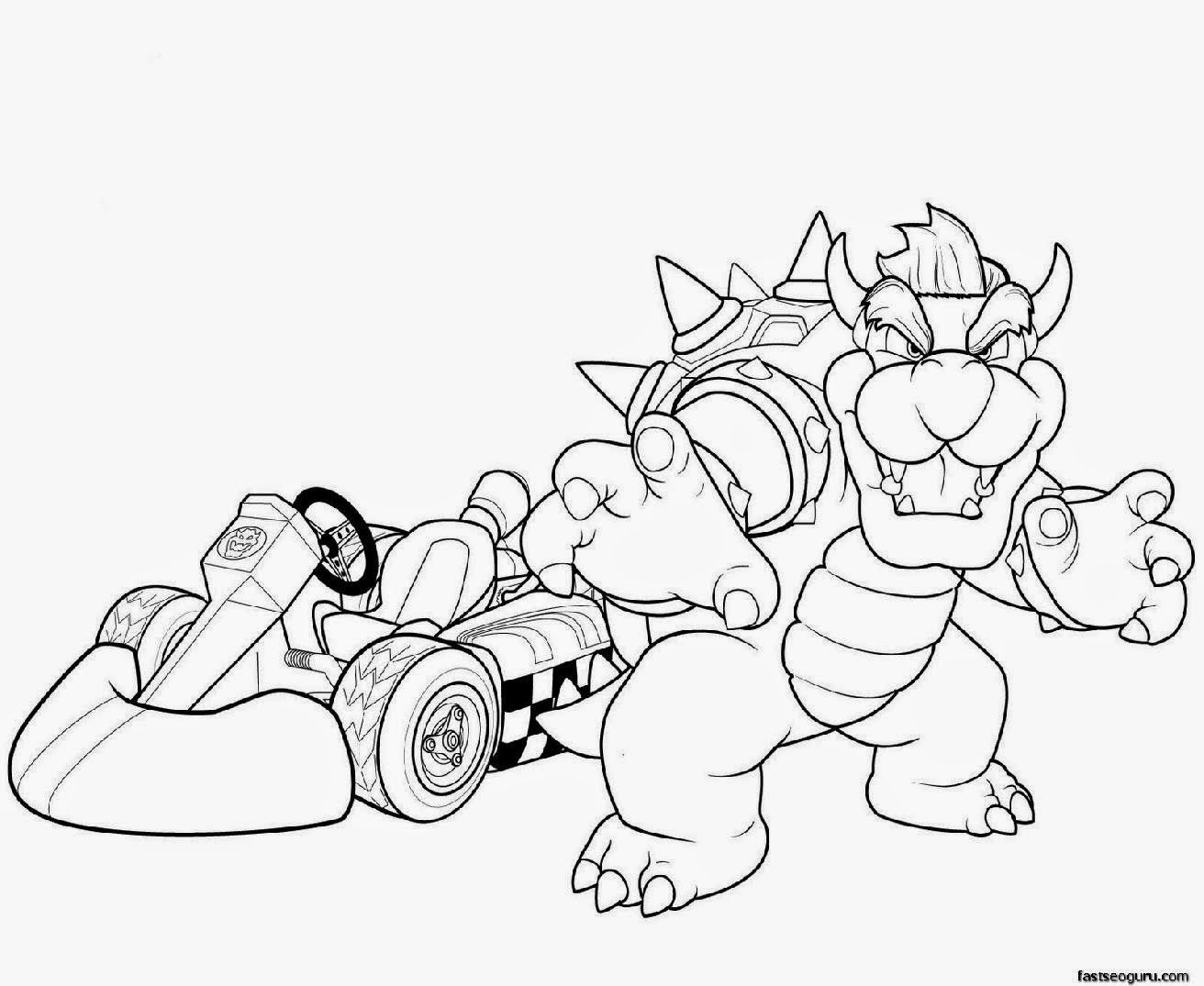 1312x1075 Homepage Cartoon Printable Super Mario And Bowser Coloring Pages