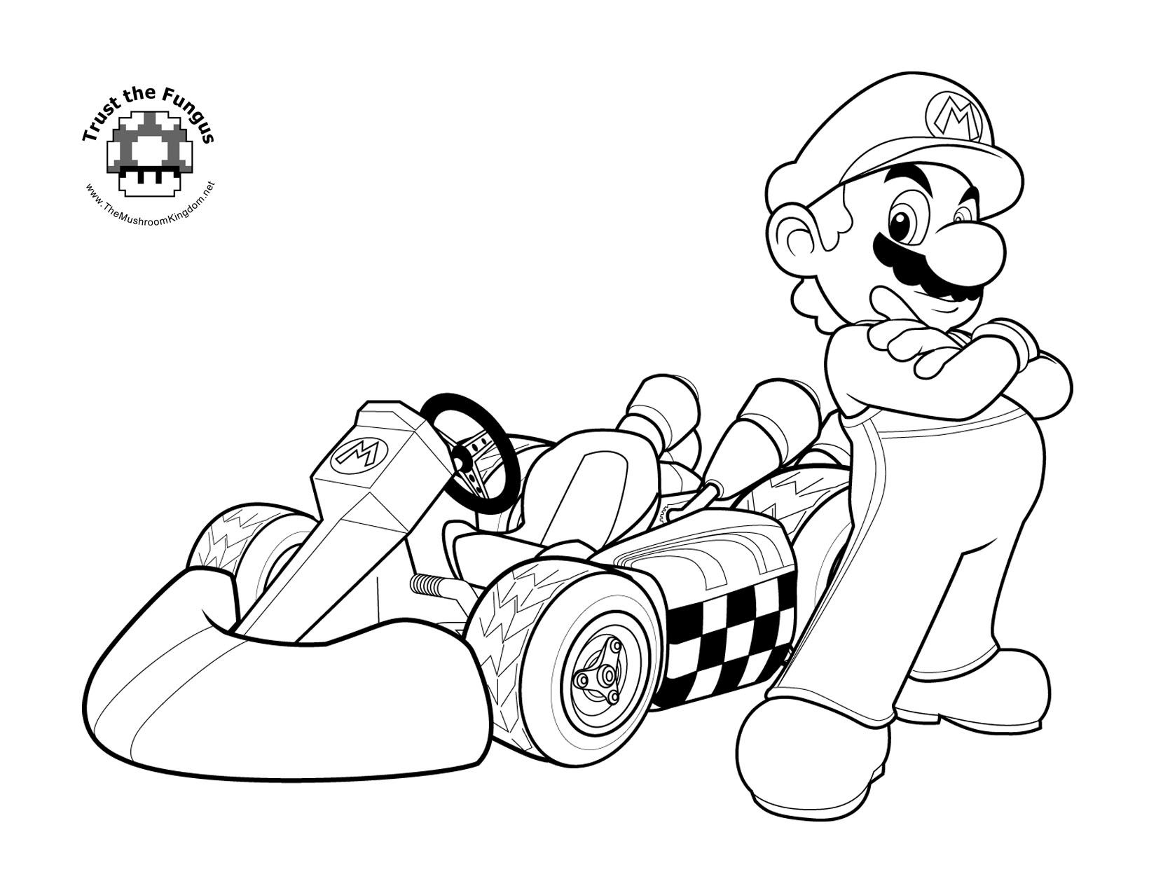 1650x1275 Mario Kart Coloring Pages