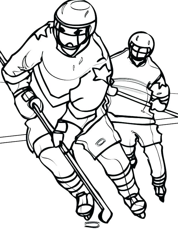 618x800 Hockey Coloring Pages Surprising Goalie Helmet Page Stick Goal