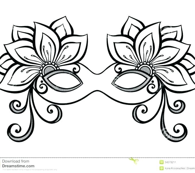 678x600 Mask Coloring Pages Extraordinary Mask Coloring Pages On Coloring