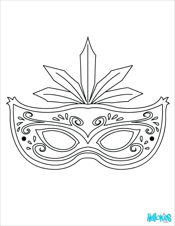 736x951 Mask Coloring Pages Mask Coloring Page Masks Coloring Pages A Mask