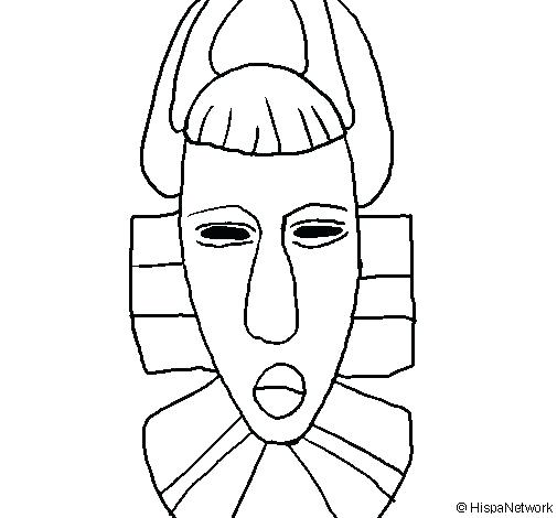 505x470 Mask Coloring Pages Masks Coloring Pages African Mask Coloring