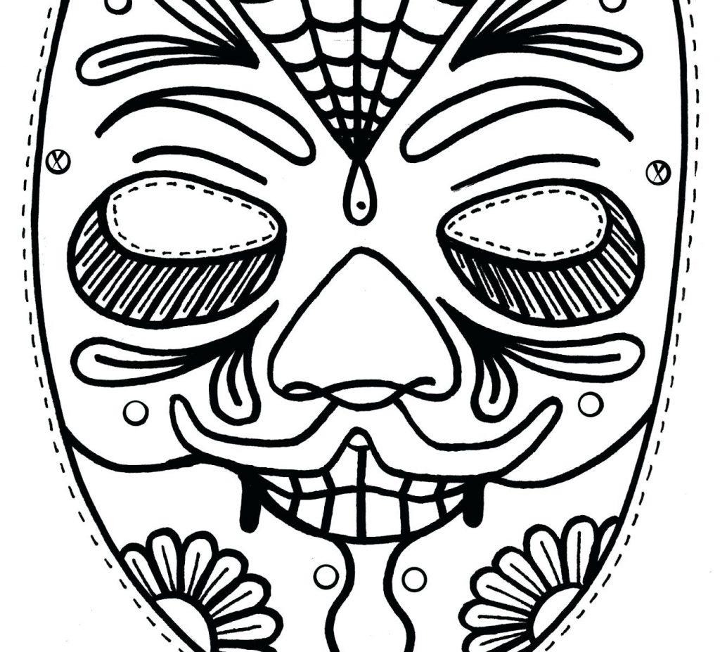 1024x928 Coloring Page Mask Coloring Pages Butterfly For Kids Free