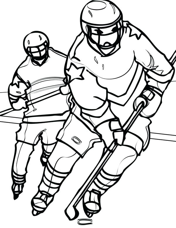 600x776 Hockey Coloring Pages Hockey Player Chasing An Opponent Coloring