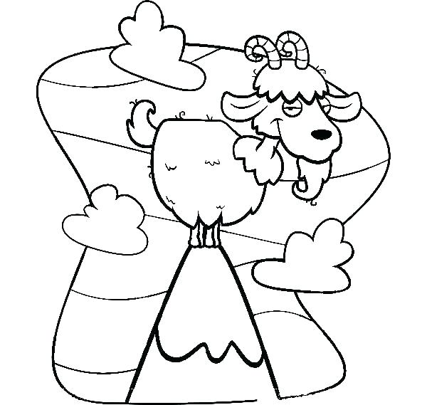 600x569 Goat Coloring Skinny Goat Coloring Pages Dairy Goat Coloring Pages