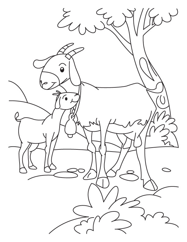 612x792 Kid Goat Coloring Pages