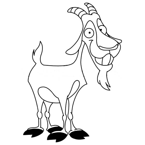 600x600 Smiling Billy The Goat Coloring Pages Best Place To Color