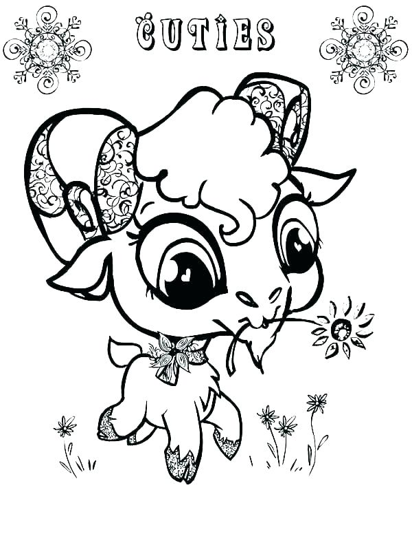 600x776 Coloring Pages Goat