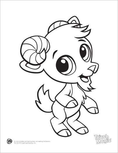 405x524 Cute Goat Coloring Pages
