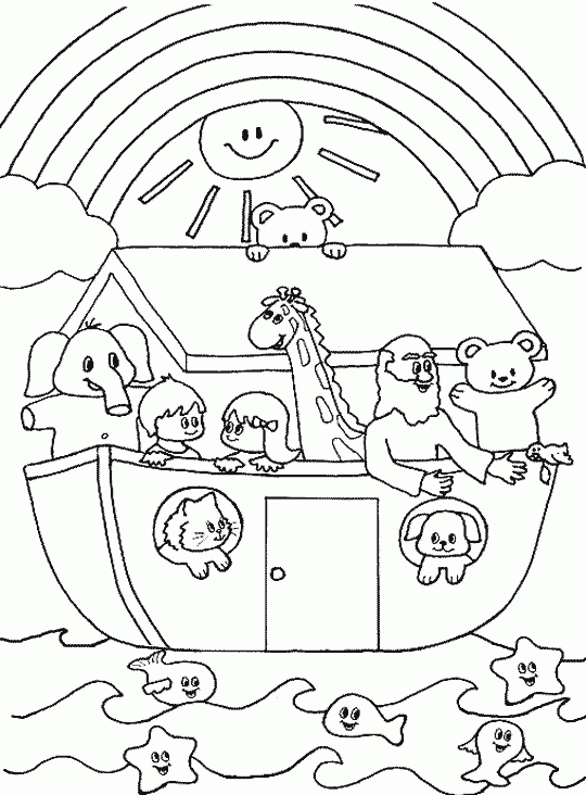 540x732 God's Promise Rainbow Coloring Pages Promises Of God Coloring